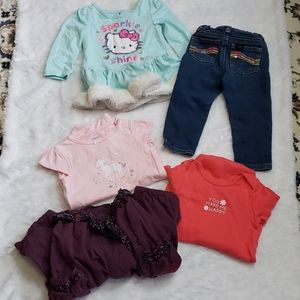 🌻5 PIECE GIRLS LOT OF CLOTHES SIZE 18 MONTHS